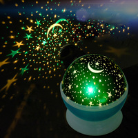 LAIMAIK Romantic Rotating Spin Night Light Projector Children Kids Baby Sleep Lighting Sky Star Moon USB