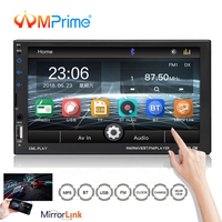 AMPrime 2din Radio Car Android Phone Mirror Link 7'' Capacitance Touch Screen MP5 Player with Autoradio Support Rear View Camera