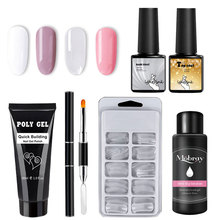Get more info on the Poly gel kit LED&UV Extend Gel nail art transparent clear nail tips Base coat top coat hard jelly quick building nail polygel