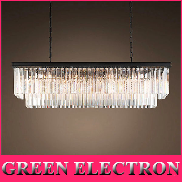 jh american country crystal chandelier dining room creative rectangular chandelier crystal pendant lamp led lighting chandelier - Dining Room Crystal Lighting