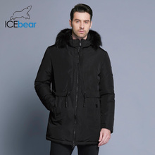 Where buy Winter Jacket Men Placket Zipper Ice Bear