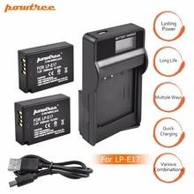 2Packs 7.4V 1500mAh LP-E17 LPE17 LP E17 Camera Battery + USB Charger For Canon EOS M3 M5 750D 760D T6i T6s 8000D Kiss X8i L10 new original vuvg l10 m52 mt m5 1h2l w1
