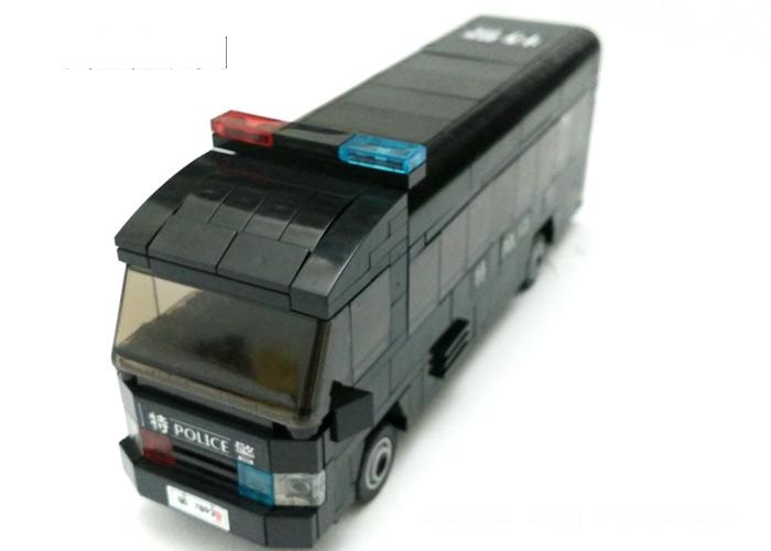 Chinese police bus Original Blocks Educational Toys Swat Police Military Weapons Gun Model City Accessories Lepin Mini figures marines weapons original block gun toys swat police military lepin weapons army model kits city compatible lepin mini figures