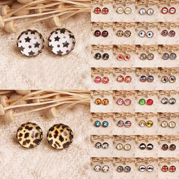 LNRRABC 1 Pair new arrival Vintage Retro Cute Lovely Pretty Animal Star Ear Stud Pierced Earring for women Free Shipping lifan