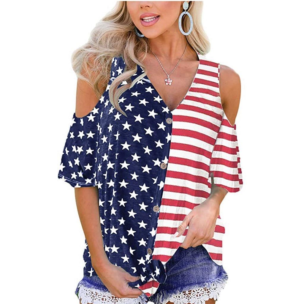 Stars Stripes American T-Shirt