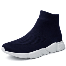 Outdoor Running Shoes for Men Sock Footwear Sport Athletic Breathable Mesh Walking Men's Sneakers Socks Flyknit sport shoes men