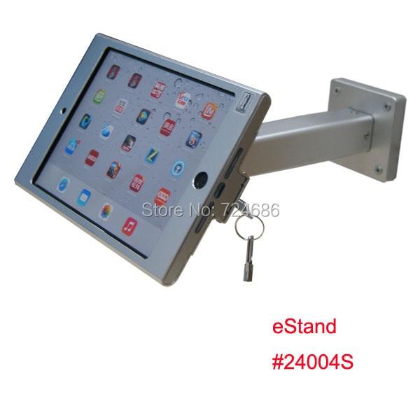 ФОТО wall mount for mini iPad metallic frame stand anti-theft enclosure holder display kiosk brace housing metal case with lock