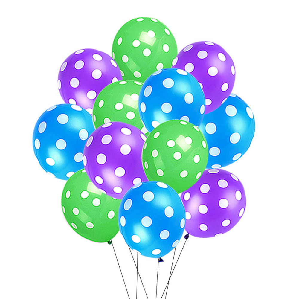 12 quot Latex Polka Dot Balloons Birthday For Halloween Party 15pcs lot Wedding Marry Decoration Kids Birthday Decoration Supplies in Ballons amp Accessories from Home amp Garden