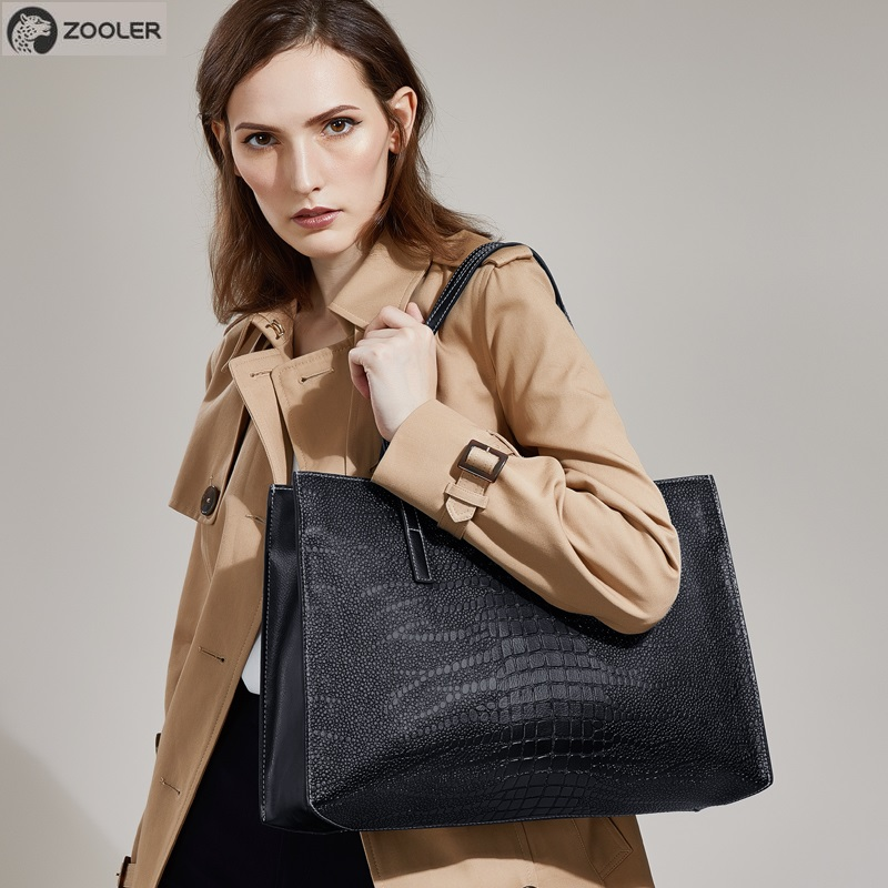 ZOOLER 2019 hohe qualität weiche Kuh Leder Frauen Handtaschen Große Kapazität Schulter Tasche schwarz handtasche Für Frauen Tote Tasche #2109-in Taschen mit Griff oben aus Gepäck & Taschen bei  Gruppe 1