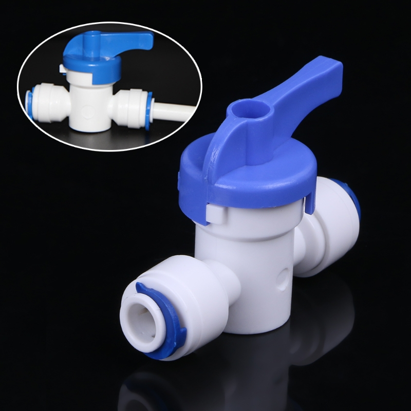RO Water Reverse Osmosis 1/4 Inline New Ball Valve Quick Connect Shut offRO Water Reverse Osmosis 1/4 Inline New Ball Valve Quick Connect Shut off