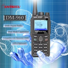 Dual Mode TDMA digital Analog DMR Radio Anysecu DM 960 VHF 3000mAh Compatible with MOTOTRBO better