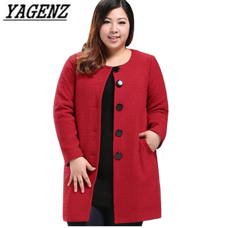 O Noir 10xl Black Longue Hiver red Femmes Mince Rouge Automne Manteau Surdimensionné Chaud Veste Laine De Occasionnel Femelle Moyen Cou Y0AUYqTa