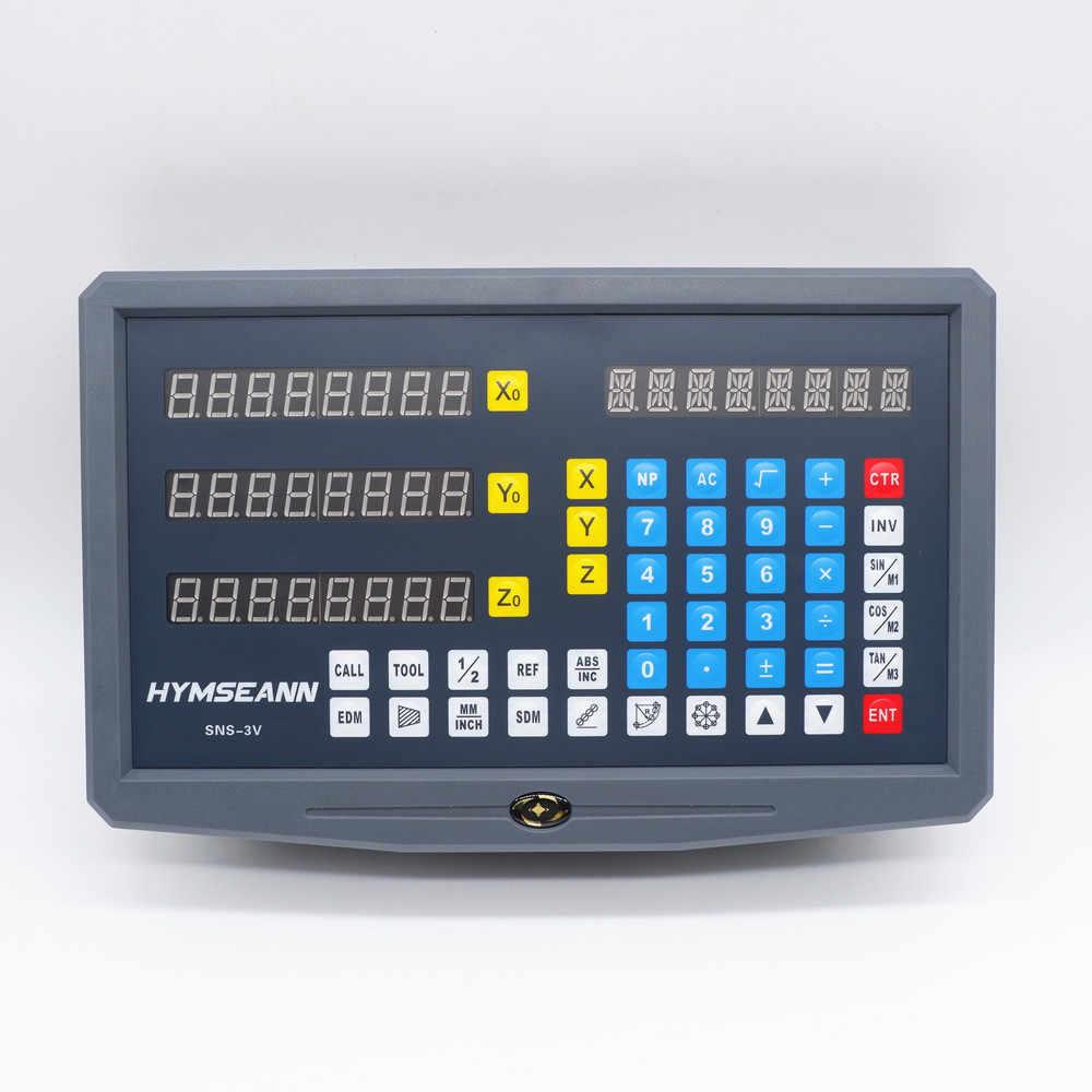 SNS-3V 3 Eixo DRO Leitura Digital Display Monitor Para Moagem Torno Máquina para Sino Easson Racional Sinpo Escala De Vidro Linear