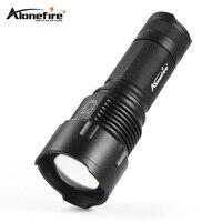 AloneFire X980 Zoomable DEL Foco DEL CREE XM-L T6 Linterna Táctica LED Linterna Antorcha 26650 batería AA