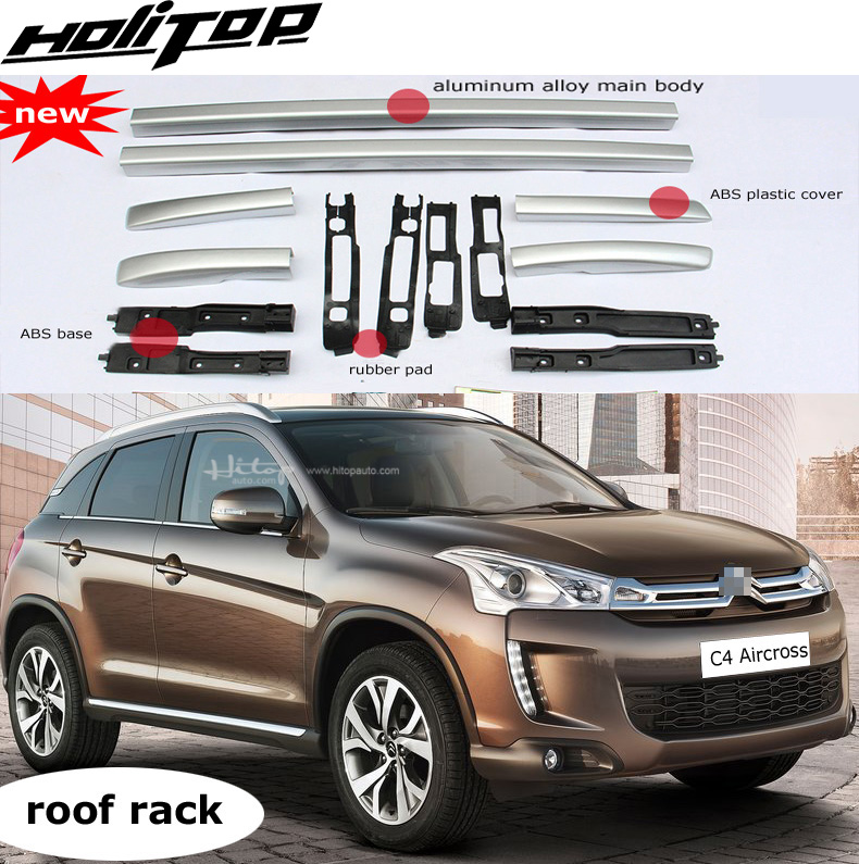 hottest roof rack roof rail roof bar for Citroen C4 Aircross 2013 2019 black or silver
