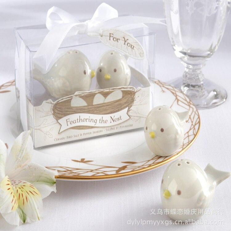 Porcelain Wedding Favors: 200pcs/lot Free Shipping Wedding Favors Ceramic Spice Jar