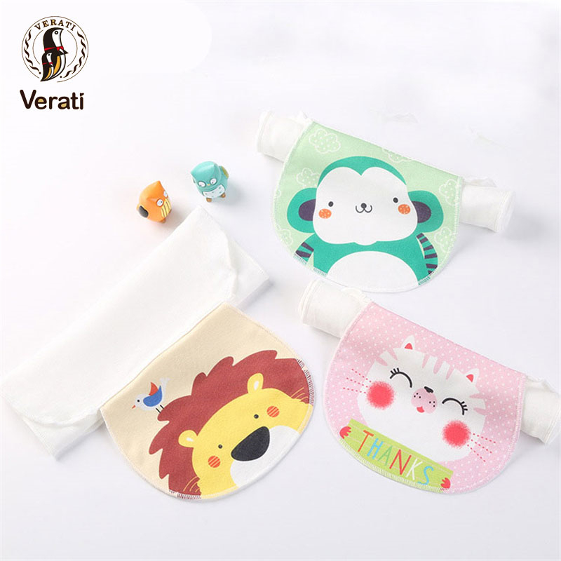 VERATI 2018 New Sweat-absorbent Towel Baby CottonGauze Pad Printed Baby Stuff Baby Face Hand Towel Baby Stuff 24*35CM V084 ...