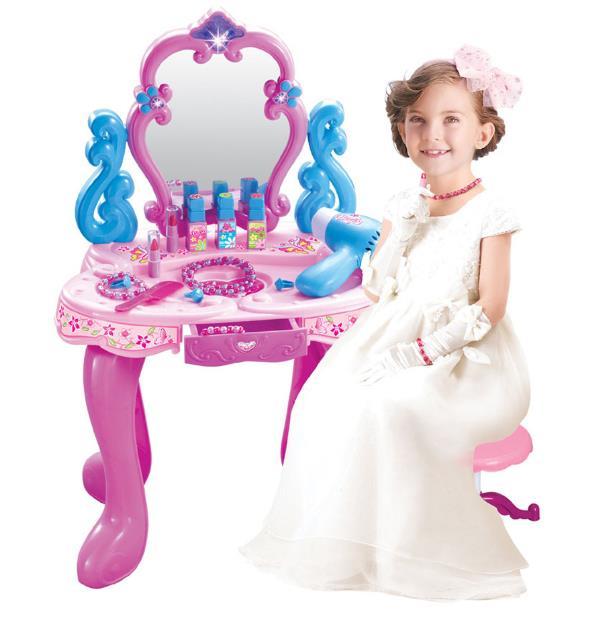 أميرة صغيرة محاكاة خلع الملابس الجدول ماكياج لعب نتظاهر اللعب لعبة الأطفال التعليمية اللعب الفتيات مجموعة كاملة من مضمد اللعب-في ألعاب الجمال والأزياء من الألعاب والهوايات على  مجموعة 1