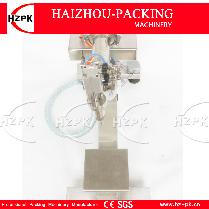 HZPK Vertical Single Filling Nozzle Liquid Filling Machine Bottle Filler Holder Electric&Air Filling Water 300-2500ML G1LYD2500 цена