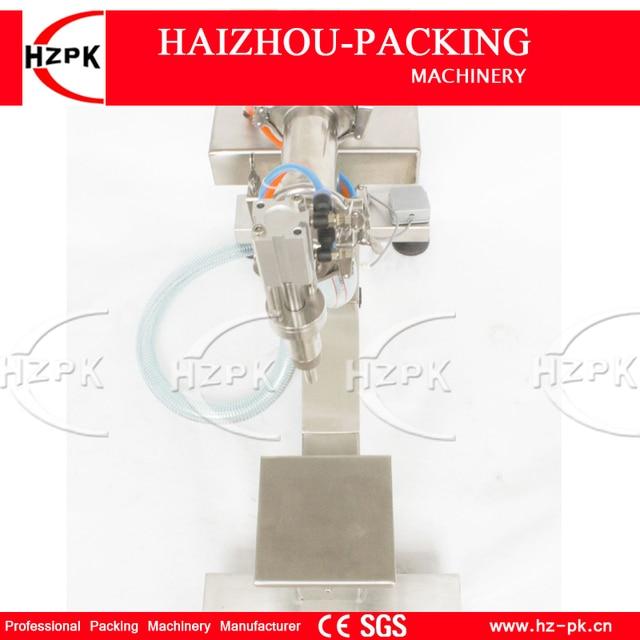 HZPK Vertical Single Filling Nozzle Liquid Filling Machine Bottle Filler Holder Electric&Air Filling Water 300-2500ML G1LYD2500