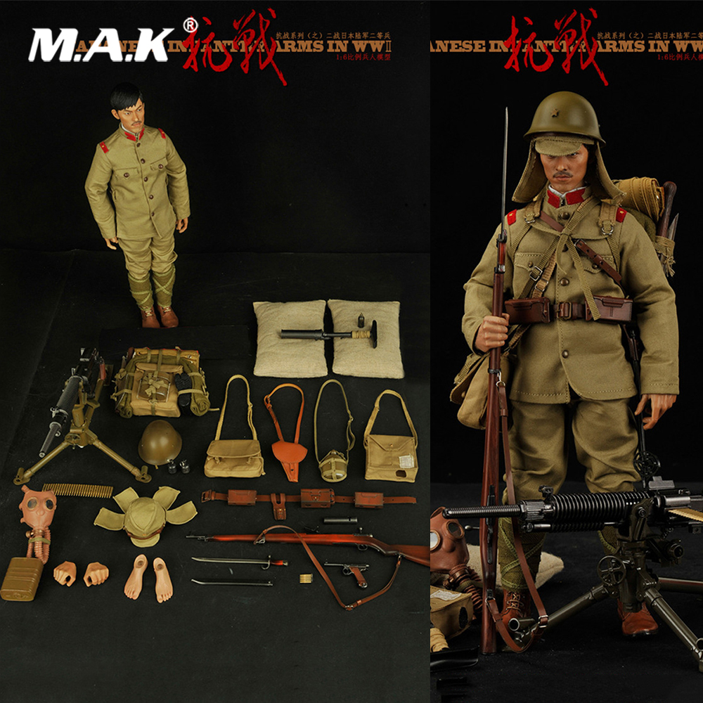 For Collection 1/6 Scale Full Set Solider Action Figure Japanese Army Common Soldier World War II Model for Fans Gifts