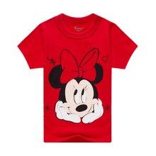 0b1d517216 Mickey Mouse odzież chłopiec jest popularny bohater T Shirt Minnie T-shirt  śliczne dziewczyna Minnie