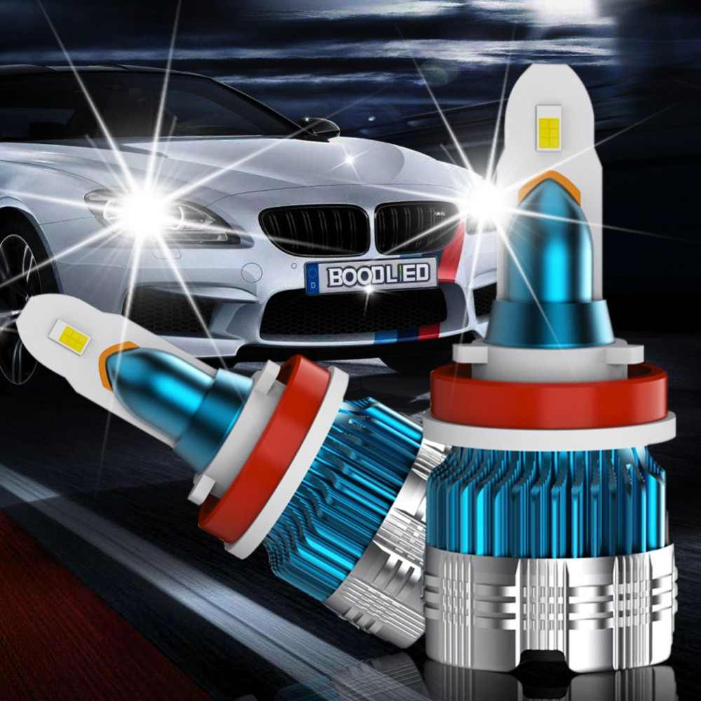 2pcs H7 LED Headlight Bulbs H1 H4 H3 H11 H13 LED 880 9004 9005 9006 9007 9012 Mini CSP Y19 Chips LED Car Headlight Auto Headlamp