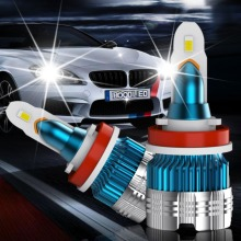 2pcs H7 LED Headlight Bulbs H1 H4 H3 H11 H13 880 9004 9005 9006 9007 9012 Mini CSP Y19 Chips Car Auto Headlamp
