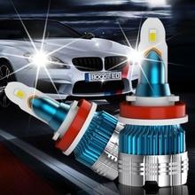 цена на 2pcs H7 LED Headlight Bulbs H1 H4 H3 H11 H13 LED 880 9004 9005 9006 9007 9012 Mini CSP Y19 Chips LED Car Headlight Auto Headlamp
