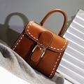 2016 Vintage Beautiful Women Fashion Handbags PU Leather Vachette Clasp Thread Hand Bag Flap Shoulder Messenger Crossbody Bags