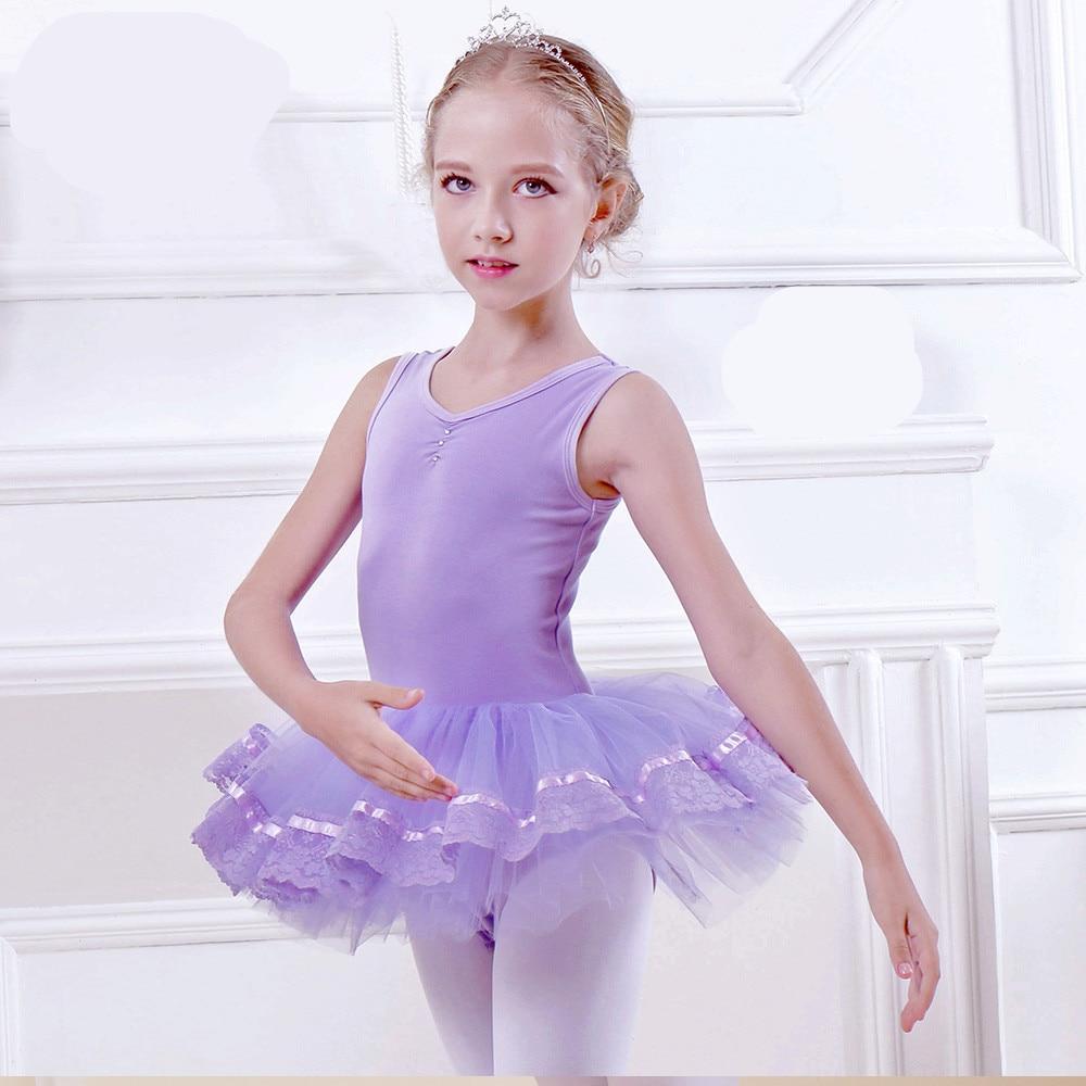 gymnastic dress kinder ballett dress m dchen ballett t nzerin kost m rosa blau lila ballerina. Black Bedroom Furniture Sets. Home Design Ideas
