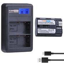 PowerTrust 1 шт. 2650 мАч BP-511 BP 511 BP511 BP511A Батарея + ЖК-дисплей USB двойной Зарядное устройство для Canon EOS 40D 300D 5D 20D 30D 50D