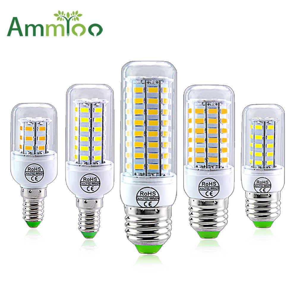 E27 LED ランプ E14 LED SMD 5730 220 220v トウモロコシ電球 24 36 56 72 Led Lamparas LED Chandelie 家の装飾のためアンプル Led ライト
