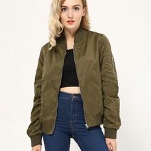 Solid Zipper Jacket Coat Quality Lady Biker Bomber Jacket Women Outwear 3 Colors S/M/L Sizes Women Cloths chaquetas mujer 2016