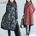 Makuluya женщины платья 2016 новых зимних женщин плюс размер длинные платья с плис сгущает dressLYQ-85-78
