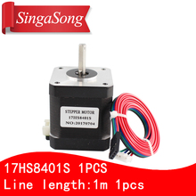 Free shipping 1PCS 4 lead Nema17 Stepper Motor 42 motor 17HS8401S 1 8A CE ROSH ISO