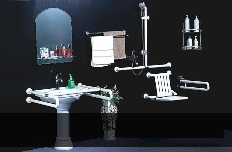 Verpleging thuis oude man wc kruk vouwen plastic pe muur kruk gratis