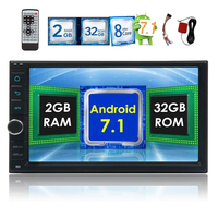 Android 7.1 car auto audio head unit 8 core dual 2 two DIN touch screen GPS navigation WiFi support OBD2 3G/4G dual camera input