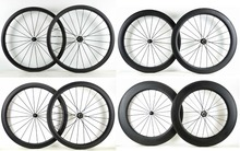 Free shipping 700C 38/50/60/88mm depth Road carbon wheels 25mm width Clincher bicycle carbon wheelset UD matte finish