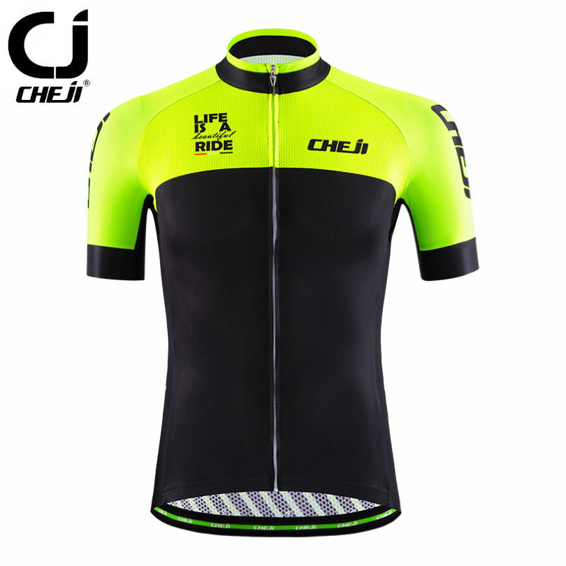2017 CHEJI Mens Bike Cycling Jersey Jacket Riding Pro Team Ropa Ciclismo Bicycle Team Clothing Tops Sportwears 8-Modes  cheji team mens bike clothing set ropa ciclismo mtb bike bicycle cycling long sleeve jersey