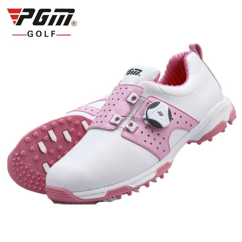 Pgm Golf Shoes Women Sports Shoes Waterproof Sports Shoes Knobs Buckle Shoelace Anti Slip Woman Training