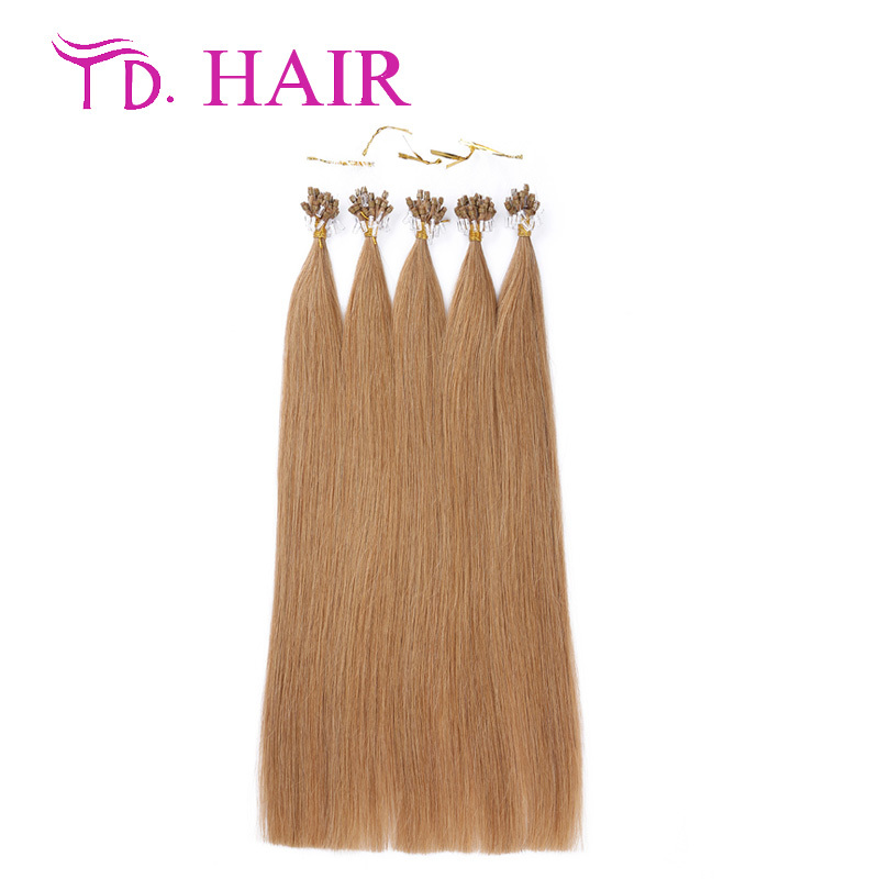 #16 Cheap Brazilian Micro loop human hair extensions,Brazilian virgin hair, human hair micro rings micro loop hair extensions