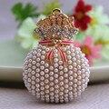 Retro perla cristal bolso llavero llave del bolso del anillo de regalos llavero coche