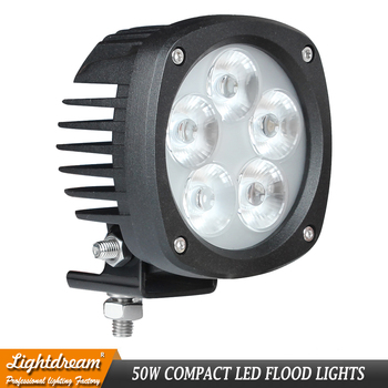 4 inch 50W Compact LED Flood Light IP67 4900Lm Led Work Offroad lights for John Deere: AT305931, AT443224, AT443223, AT135486 x1