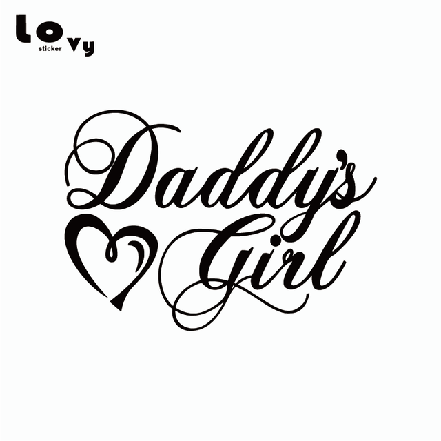 Creative Daddys Girl Heart Car Sticker Funny Family Car Decal For