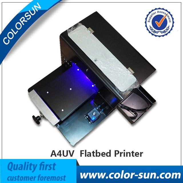 Покрытие бесплатно A4 УФ планшетный Принтер маленький уф планшетный принтер