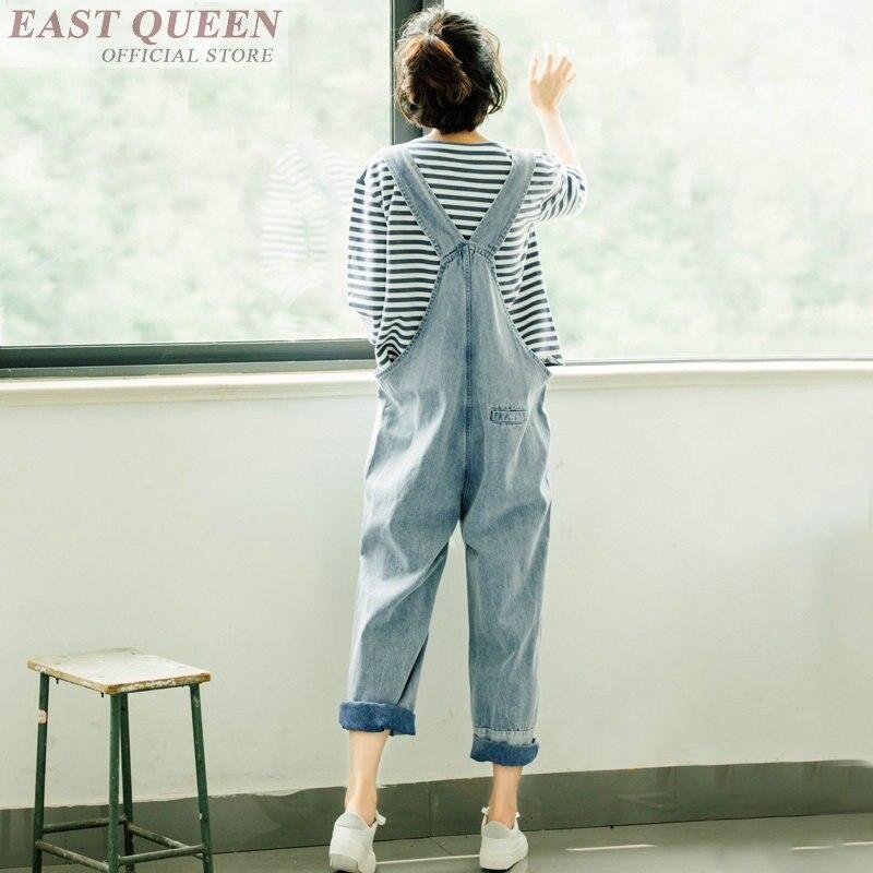 Solide Barboteuses Combinaisons Cheville Femmes Femme longueur Dd596 1 Bureau Salopette Trou 2018 Élégante Denim Jeans Pour L Pantalon wpdtBq