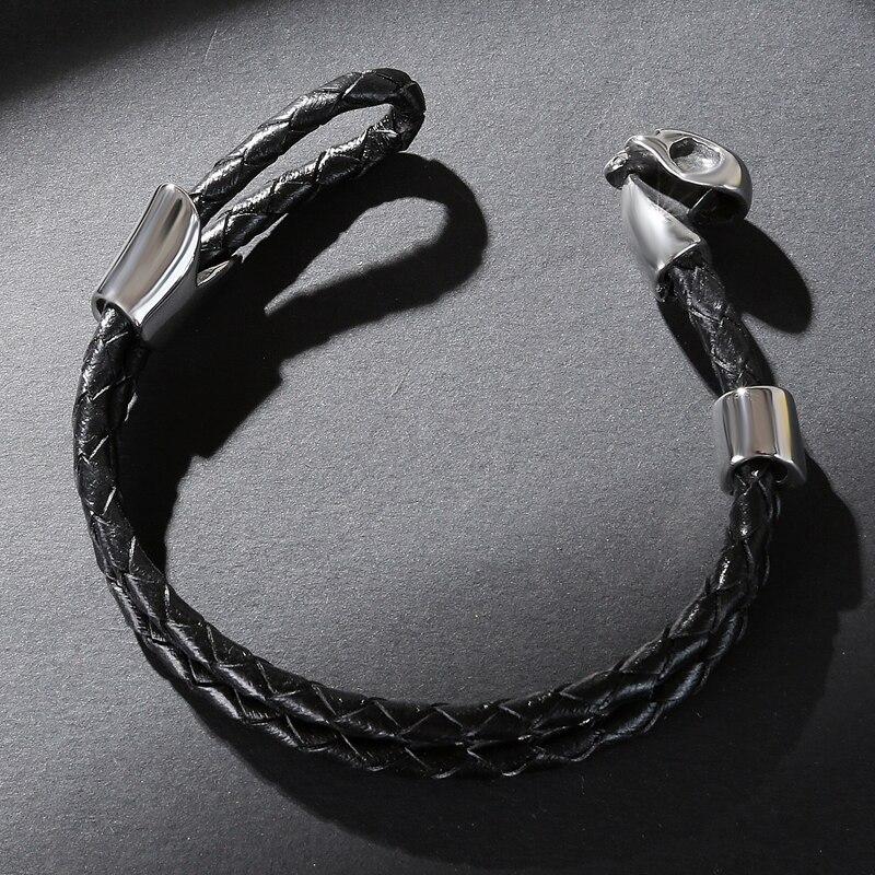 Bracelet tête de mort en acier inoxydable 4