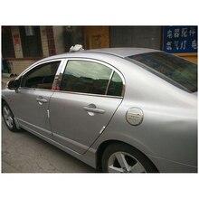 Lsrtw2017 304 из нержавеющей стали окна автомобиля Накладка для Honda Civic 2006 2007 2008 2009 2010 2011 8th Civic