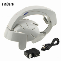 YihCare Home Electric Head Massager Acupoint Relax Brain Vibrating Stress Release Machine Head Spa Massage Helmet Grey Color